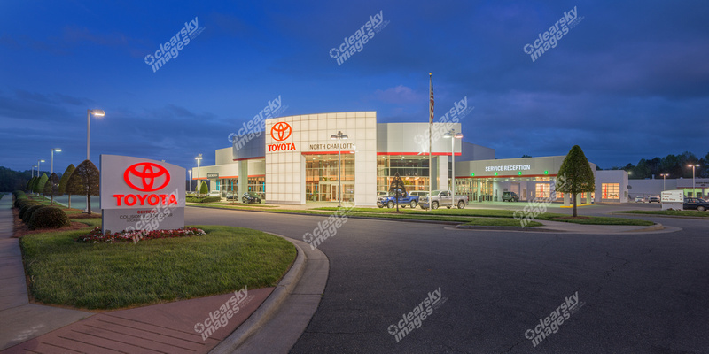 clear sky images commercial photography toyota north tryon dealership. Black Bedroom Furniture Sets. Home Design Ideas